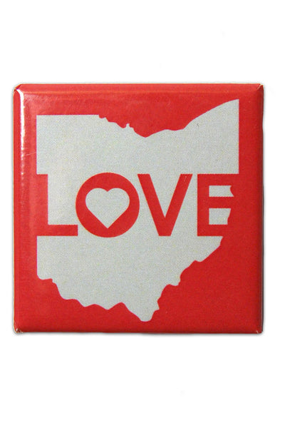 Ohio Love - Fridge Magnet - CLE Clothing Co.