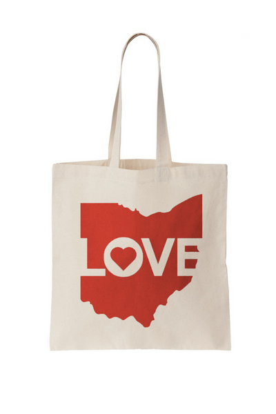 Ohio Love Tote Bag - CLE Clothing Co.