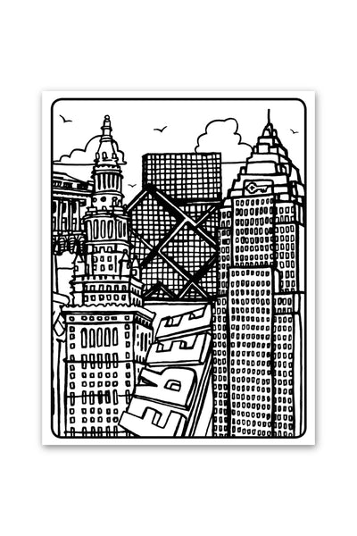 Color Me Cleveland - Coloring Book