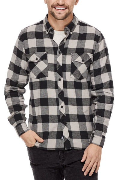 Cleveland Clothing Official Flannel - Grey/White - CLE Clothing Co.