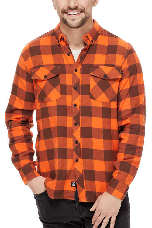 Cleveland Clothing Official Flannel - Brown/Orange - CLE Clothing Co.