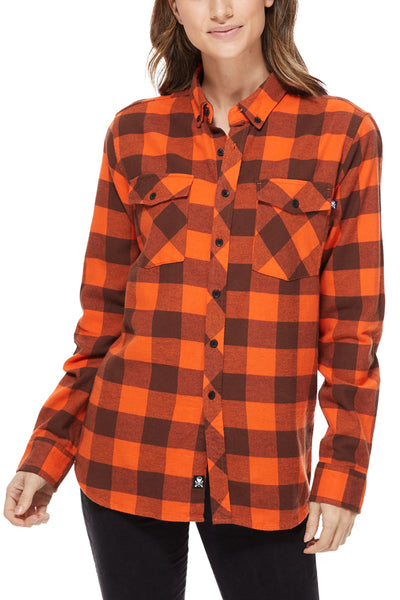 Cleveland Clothing Official Flannel - Brown/Orange