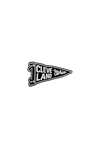 Cleveland, Ohio Pennant - Enamel Pin - CLE Clothing Co.