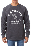 Run the Land Wingfoot - Unisex Fleece Crewneck Sweatshirt