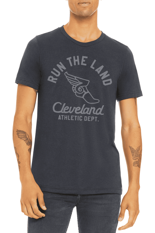 Run the Land Wingfoot - Unisex Crew - Heather Navy