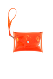 Clear Stadium Purse - Orange