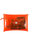 Clear Stadium Purse - Orange - CLE Clothing Co.