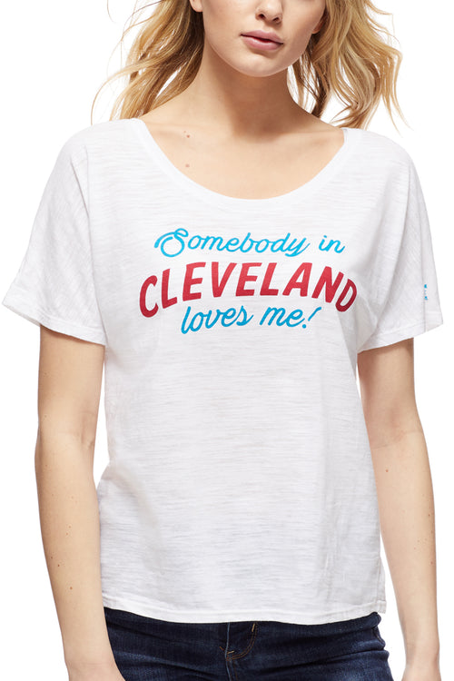 Somebody In Cleveland Loves Me - Women's Boxy Tee