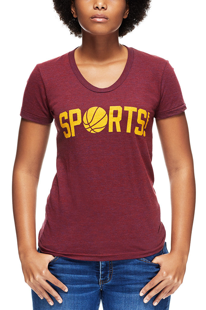 Sports Wine Gold Womens Crew Cle Clothing Co
