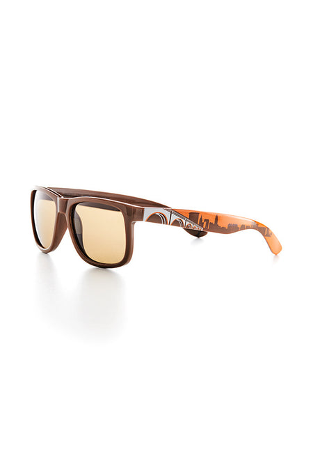Wooden Columbus Skyline Sunglasses