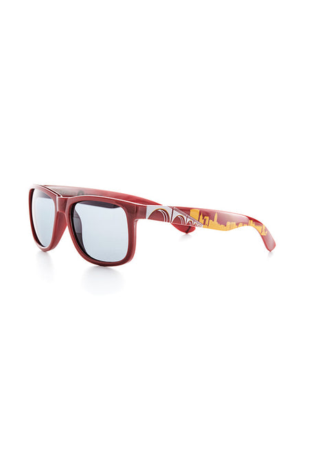 Columbus Skyline Sunglasses - Scarlet & Grey