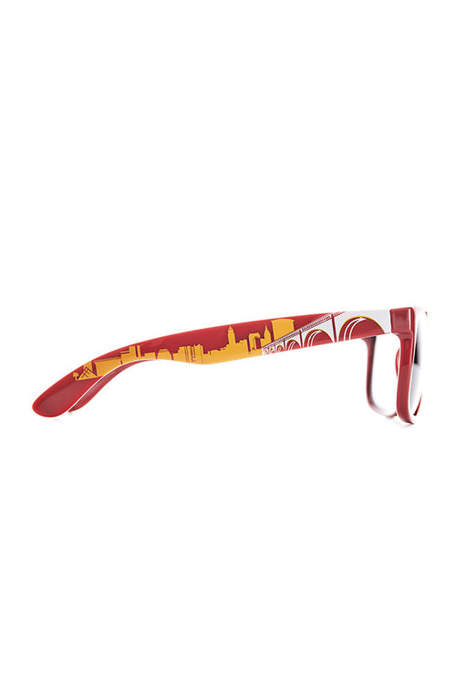 Cleveland Skyline Sunglasses - Wine/Gold - CLE Clothing Co.