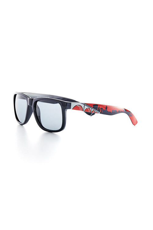 Cleveland Skyline Sunglasses - Navy/Red - CLE Clothing Co.
