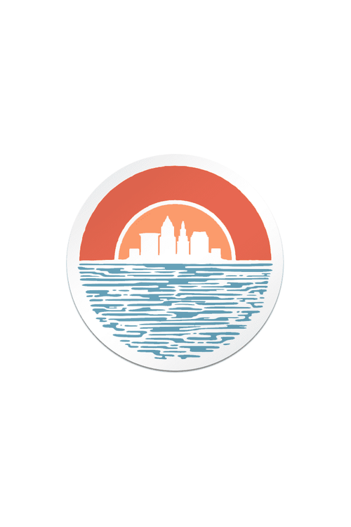 Cleveland Sunset - Sticker - CLE Clothing Co.
