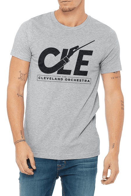 Cleveland Art Deco - Unisex Crew - Heather Navy