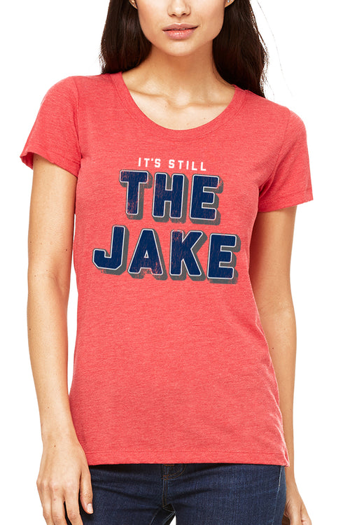 It's Still The Jake - Women's Crew - RED - CLE Clothing Co.