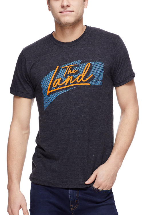 The Land Script Retro 90's - Unisex Crew - Black - CLE Clothing Co.