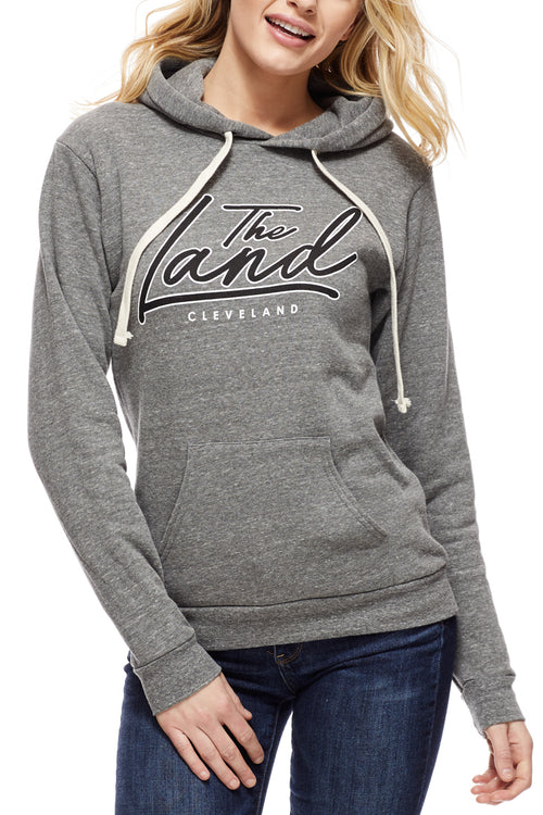 The Land Script - Pullover Hoodie - Grey