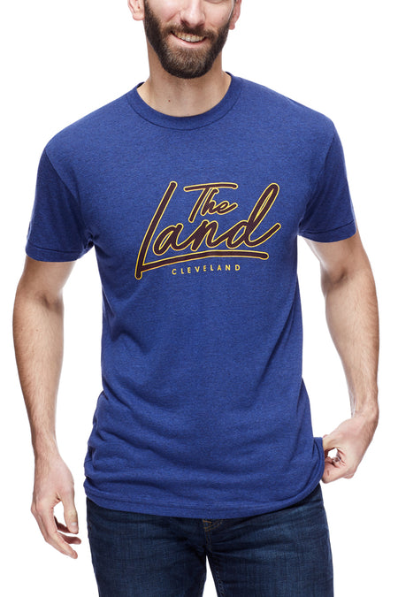 The Land Script Retro 90's - Unisex Crew - Black