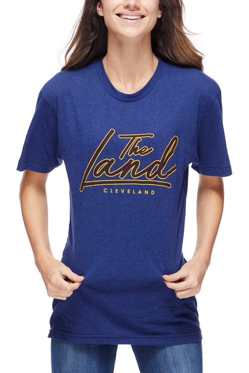 The Land Script - Wine/Gold - Unisex Crew