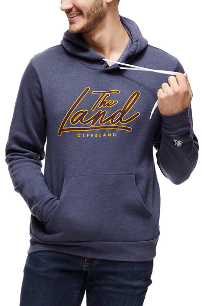 The Land Script - Pullover Hoodie - Wine/Gold