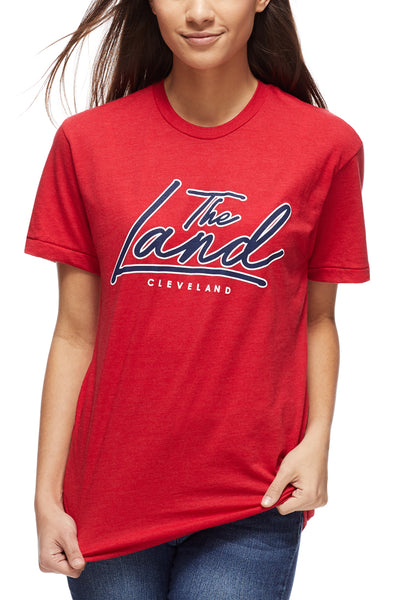 The Land Script - Unisex Crew - Navy/Red