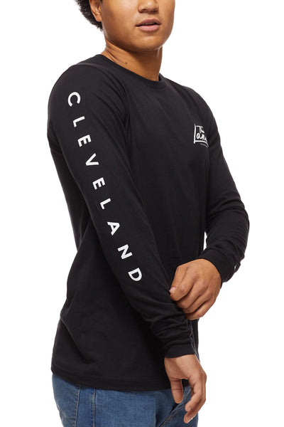 The Land Script - Unisex Long-Sleeve Crew - Black