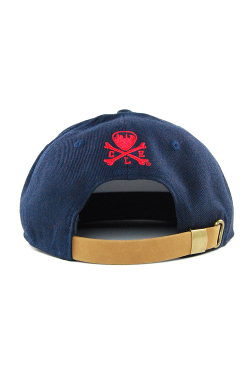 The Land Script - Navy/Red - Strap-Back - CLE Clothing Co.
