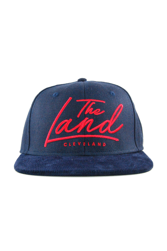 dfe71ffaf52 The Land Script - Navy Red - Strap-Back – CLE Clothing Co.
