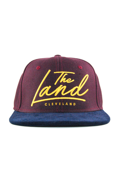 The Land Script - Wine/Gold - Strap-Back - CLE Clothing Co.