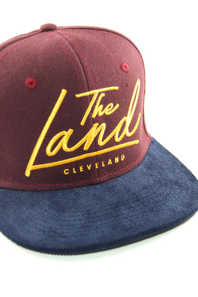 The Land Script - Wine/Gold - Strap-Back