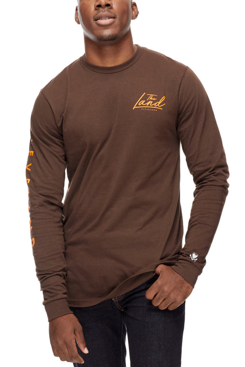 The Land - Unisex Long-Sleeve Crew - Brown