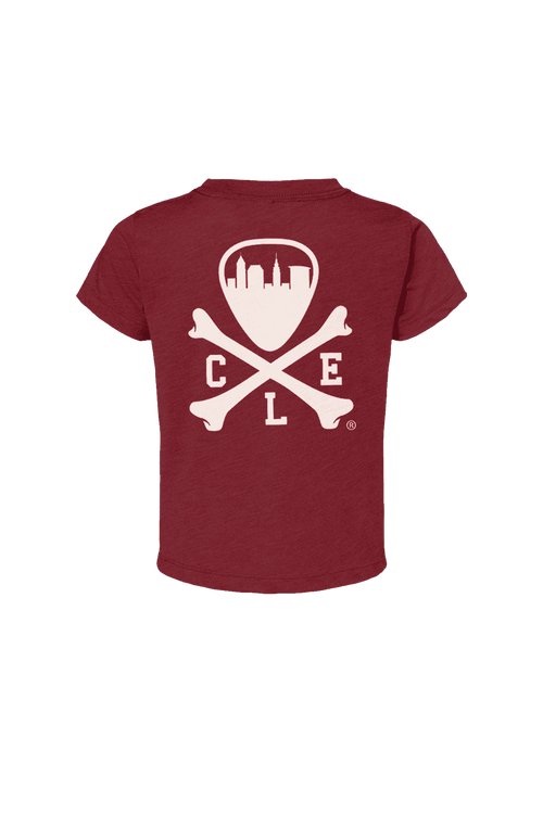 CLE Logo - Toddler Crew - Cranberry