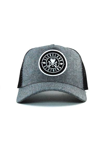 CLE Logo Trucker - Grey & Black