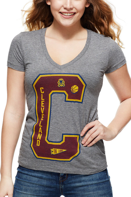 Cleveland Repeat - Hardcourt - Women's Boxy Tee