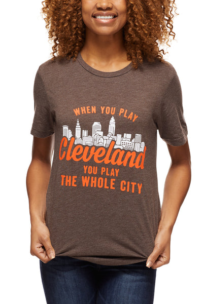 When You Play Cleveland... - Brown/Orange - Unisex Crew