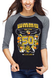 WMMS 50th Anniversary - Unisex Raglan - CLE Clothing Co.