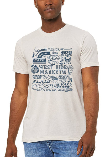 WSM Collage - Unisex Crew - Light Grey - CLE Clothing Co.