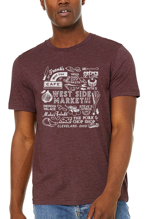 WSM Collage - Unisex Crew - Maroon - CLE Clothing Co.