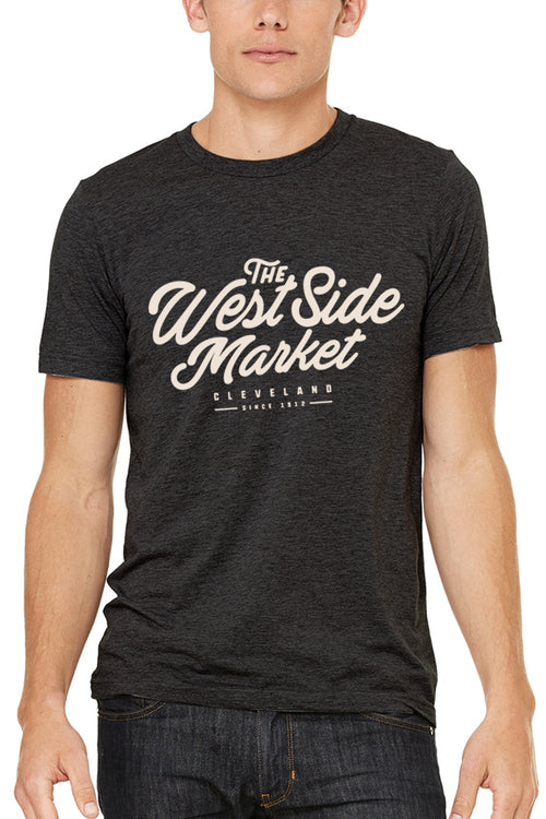 WSM Script - Unisex Crew - Tri Black - CLE Clothing Co.