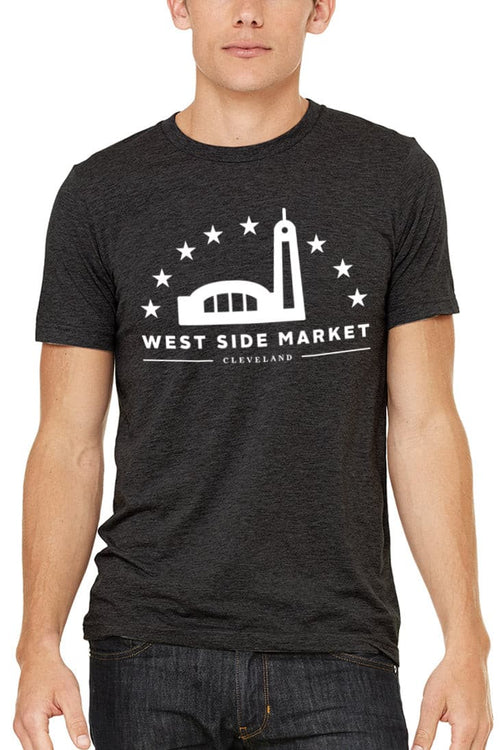 WSM Logo - Unisex Crew - Tri Black - CLE Clothing Co.
