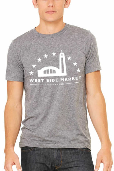 WSM Logo - Unisex Crew - Athletic Grey - CLE Clothing Co.