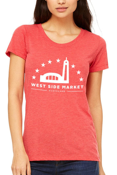 WSM Logo - Womens Crew - Heather Red