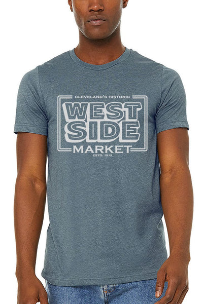 WSM Vintage Sign - Unisex Crew - Heather Slate - CLE Clothing Co.