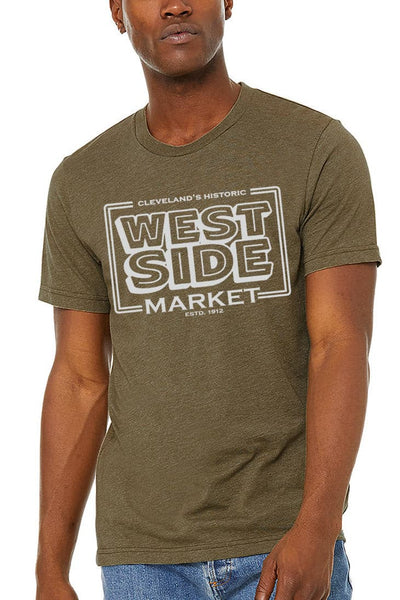 WSM Vintage Sign - Unisex Crew - Olive - CLE Clothing Co.