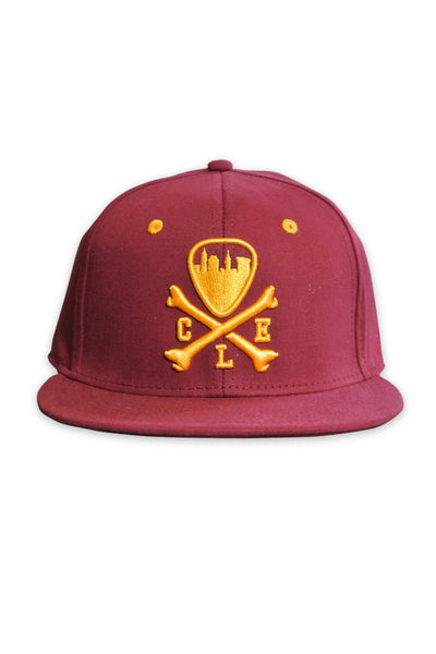 CLE Logo Fitted Cap - Wine