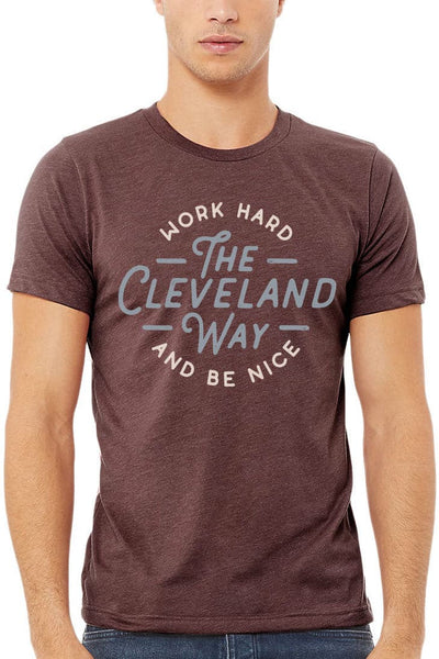 Work Hard Be Nice - Unisex Crew - Heather Maroon