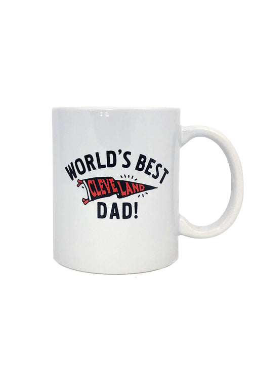 Worlds Best Cleveland Dad Coffee Mug - CLE Clothing Co.