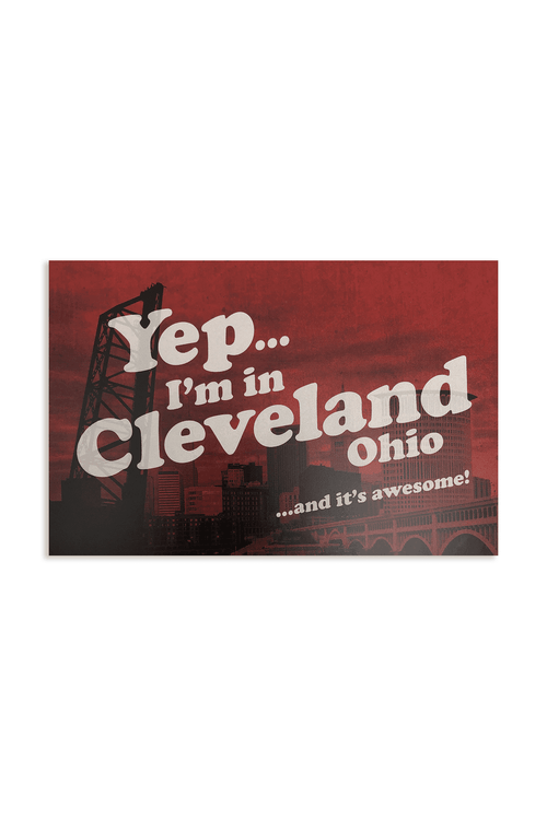 Yep, I'm in Cleveland Postcard