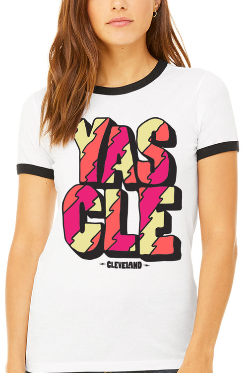 YAS CLE - Womens Ringer Tee